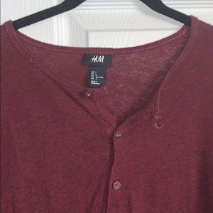 H&M long sleeve Henley shirt